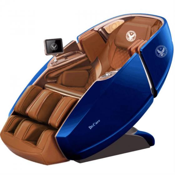 Ghế massage Phi Thuyền Vũ Trụ SS 919X – Màu xanh USA – Nội thất nâu đậm