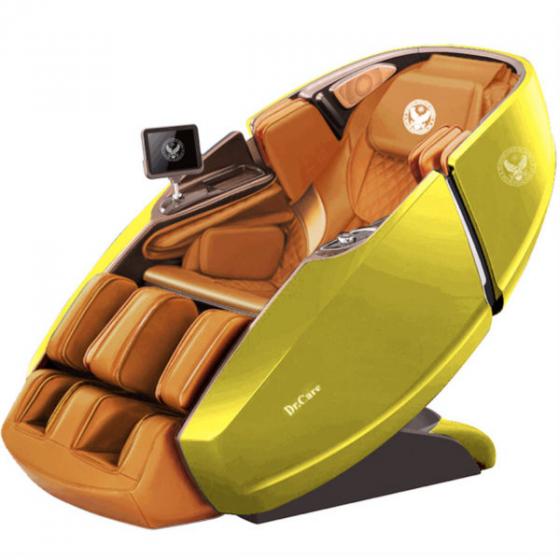 Ghế massage Phi Thuyền Vũ Trụ SS 919X – Màu vàng lemon – Nội thất nâu vàng