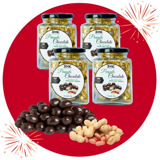 Socola Viên ĐẬU PHỘNG HŨ 90G SHE Chocolate -Thích hợp ăn vặt văn phòng, đặc biệt có thể làm quà tặng