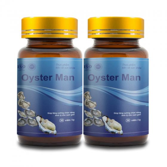 Combo 2 tinh chất hàu Oyster Man tăng cường sinh lý nam giới, cải thiện yếu sinh lý, xuất tinh sớm (hộp 30 viên)