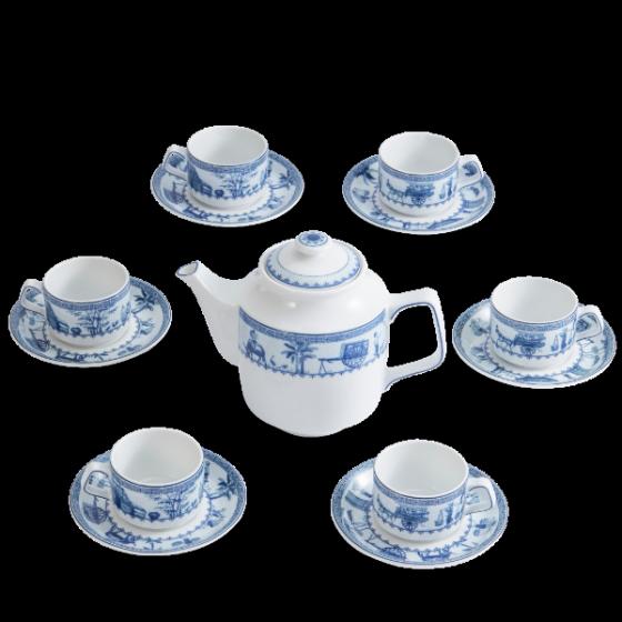 Bộ trà Minh Long 0.7 L Jasmine thôn dã