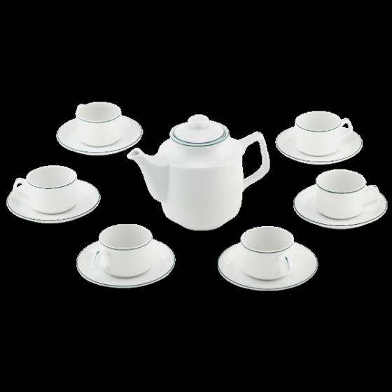 Bộ trà Minh Long 1.1 L Jasmine chỉ xanh lá