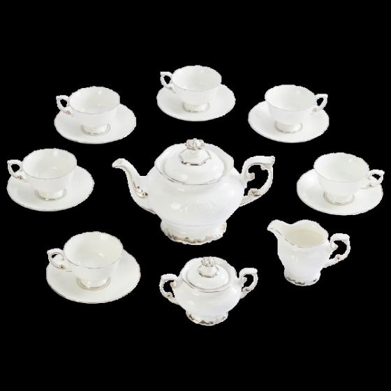 Bộ trà Minh Long 1.3 L đài các chỉ bạch kim