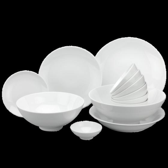 Bộ đồ ăn 10 người 36 sản phẩm - Daisy - trắng