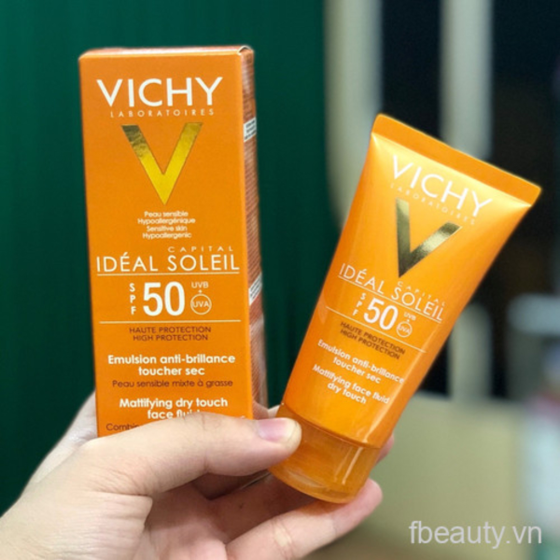 Kem chống nắng Vichy Capital Ideal Soleil Mattifying Face Fluid Dry Touch SPF50 UVA + UVB50ml