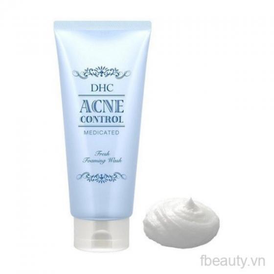 Sữa rửa mặt trị mụn DHC Medicated Acne Control Fresh Foaming Wash 130ml