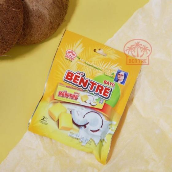 Combo 03 gói - 09 Thanh kẹo dừa hiệu Bà Hai Tỏ Bến Tre - vị Nguyên chất (một thanh 10 viên)
