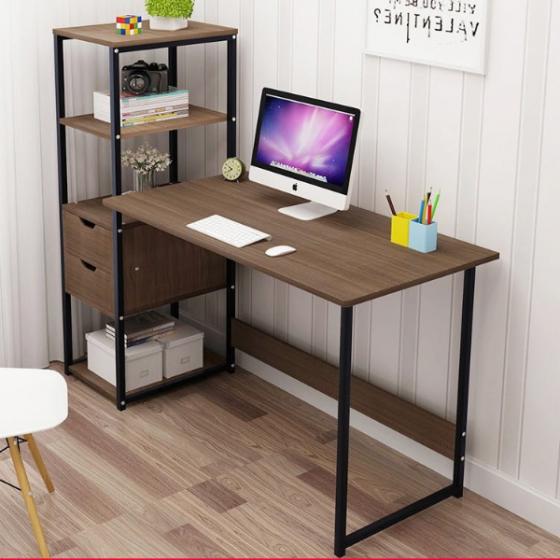Bàn làm việc, bàn văn phòng, bàn liền kệ đa năng Tâm House - BXG061 (120x40cm)