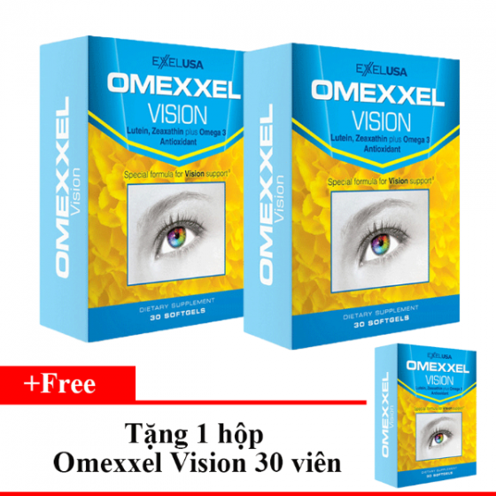 Combo 2 hộp viên uống bổ mắt Omexxel Vision (60 viên)- Tặng 1 Omexxel Vision