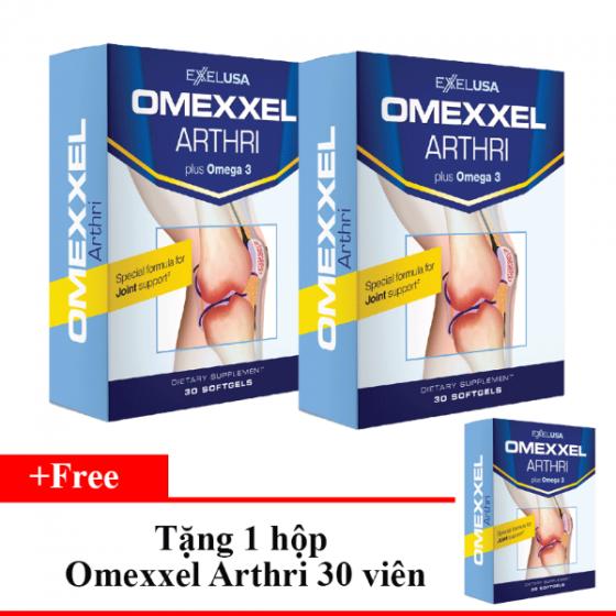Combo 2 hộp viên uống bổ khớp,ngăn ngừa thoái hóa khớp Omexxel Arthri 60 viên - Tặng viên uống Omexxel Arthri 30 viên