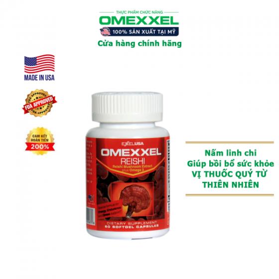 Viên uống nấm linh chi Omexxel Reishi (lọ 60 viên) - xuất xứ Mỹ