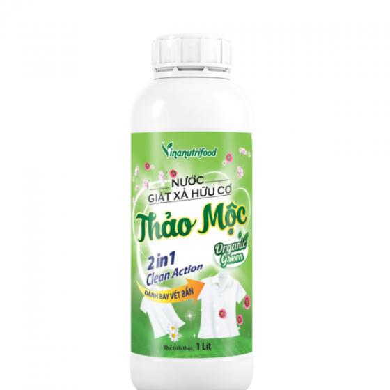 Combo 5 chai Nước giặt xả hữu cơ thảo mộc Organic Green (2 in 1)