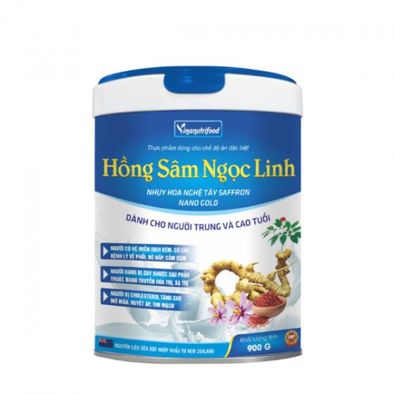 Sữa hồng sâm Ngọc Linh dinh dưỡng chứa bột nhụy hoa nghệ tây dành cho người sức khỏe yếu, tăng cường sức đề kháng
