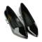 Giày bít mũi nhọn gót vuông SUNDAY BB43 - Màu đen