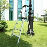Thang nhôm ghế 4 bậc Nikawa NKP-04 tải trọng 150kg, nhôm 6063 sáng bóng