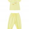 Set đồ bộ mặc nhà (tay ngắn) cotton cho bé gái - Tiniboo (Hồng nhạt - Vàng Nhạt)