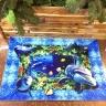 Thảm nhung 3D đại dương xanh Binbin TSN22