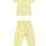 Set đồ bộ mặc nhà (tay dài) cotton cho bé gái - Tiniboo (Vàng Nhạt)