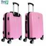 Vali chống bể Trip PP102 Size 60cm- 24inch màu hồng (tặng 01 áo vali + 01 gối cổ)