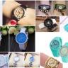 Đồng hồ nữ Julius Hàn Quốc dây da JA-1018A (xanh lá)