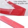 Cuốn cán vợt cầu lông có gân chống trơn - bộ 10 cái - thoáng khí thoát mồ hôi POPO Collection (Đỏ)