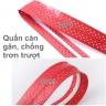 Cuốn cán vợt cầu lông có gân chống trơn - bộ 10 cái - thoáng khí thoát mồ hôi POPO Collection (Tím)