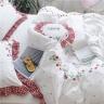 Bộ chăn ga gối satin cao cấp CZN 19-Họa tiết thêu dâu tây (order) - Cozino