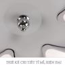 Đèn mâm ốp trần Led hoa 6 cánh OP3M1-L - Đèn trang trí Homelight