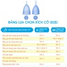 Bộ cốc nguyệt san Lunette, nhập khẩu chính hãng (màu xanh dương, size 2 + nước rửa 100 ml)
