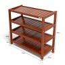 Kệ dép 4 tầng IBIE IB473 gỗ cao su 73x30x68 cm màu cánh gián