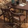 Bộ bàn ăn 4 ghế IBIE cacao màu walnut