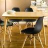 Bộ bàn ăn 4 ghế IBIE Sarah màu đen