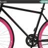 Xe đạp thể thao Fixed Gear (hồng) - tặng bộ 40 thẻ 3D Ekidar dụng cụ và bộ dao 8 món Goodlife