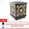 Đèn xông tinh dầu điện gỗ Lorganic M0093 + Tặng 01 chai sả chanh 10ml