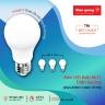 Bộ 03 đèn led bulb Điện Quang ĐQ LEDBU11A60 07765 V02 (7W daylight, chụp cầu mờ)