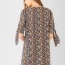 Đầm nữ tay bèo thắt nơ Kassun nâu họa tiết