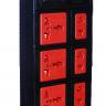 Ổ cắm Điện Quang ECO ĐQ ESK 2BR 6ECO (6 Lỗ, dây dài 2m, màu đen đỏ)