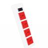 Ổ cắm Điện Quang ECO ĐQ ESK 5WR 43ECO (4 Lỗ 3 chấu, dây dài 5m, màu trắng đỏ)