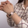 Đồng hồ nữ MS512F Mangosteen Seoul Hàn Quốc dây da (hồng nhạt)