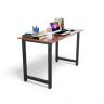 Bộ bàn Rec-T đen màu cánh gián và ghế Eames chân gỗ đen