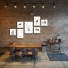 Bộ 7 tranh treo quán cà phê phong cách scandinavian tối giản W1075 Canvas