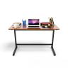 Bộ bàn Rec-Z chân đen mặt cánh gián và ghế IB517 đen