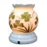 Đèn xông tinh dầu gốm sứ bát tràng họa tiết hoa lá size S(Random) - Tinh dầu hữu cơ Oresoi