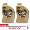 Combo 3 chai nhớt xe tay ga BCP Thái Lan nhập khẩu – Super 1 – 10W30 SL – 0.8 lít + Nhớt hộp số xe tay ga (nhớt láp) BCP Thái Lan nhập khẩu Motorcycle Gear Oil - SAE 10W40 SG - 120 ML