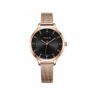 Đồng hồ nữ Julius Hàn Quốc JA-1058D đồng mặt đen