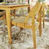 Bộ bàn ăn Osaka màu tự nhiên 4 ghế