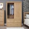 Tủ quần áo cửa lùa Gents gỗ sồi 1m0