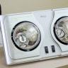 Đèn sưởi nhà tắm 2 bóng Hans H2B hãng phân phối