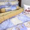 Bộ vỏ chăn ga gối lụa tencel tơ tằm Hàn Quốc Julia siêu mát mịn (bộ 5 món có vỏ chăn)-836BM16