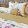 Bộ chăn ga gối lụa tencel tơ tằm Hàn Quốc Julia siêu mát mịn (bộ 5 món chần gòn)-828BC16